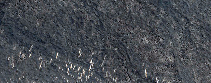 Circular Structure in Lava in Southwestern Elysium Planitia