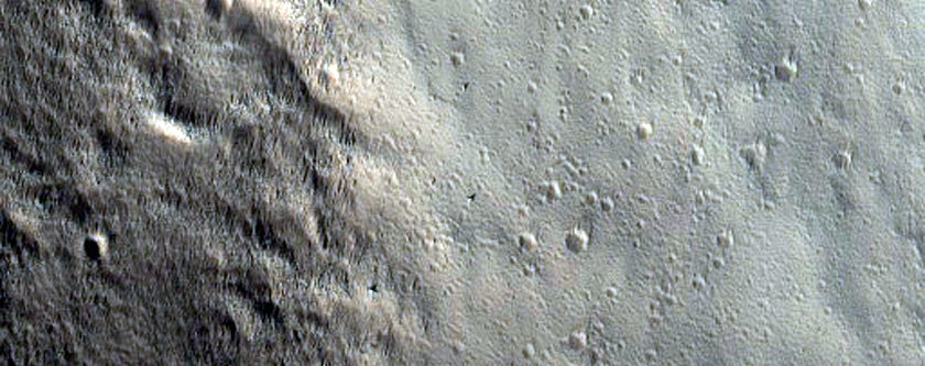 Cliffs on the Northern Margin of Olympus Mons