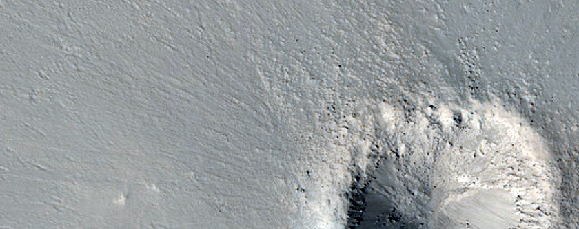 Small Rayed Crater in Arabia Terra