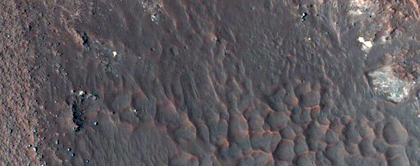 Well-Preserved Crater North of Hellas Planitia
