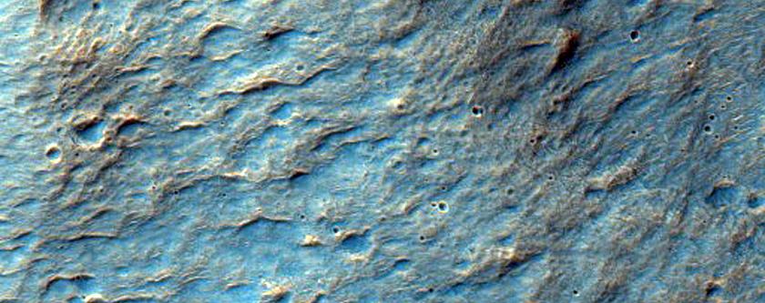 Valleys in Crater in Terra Cimmeria
