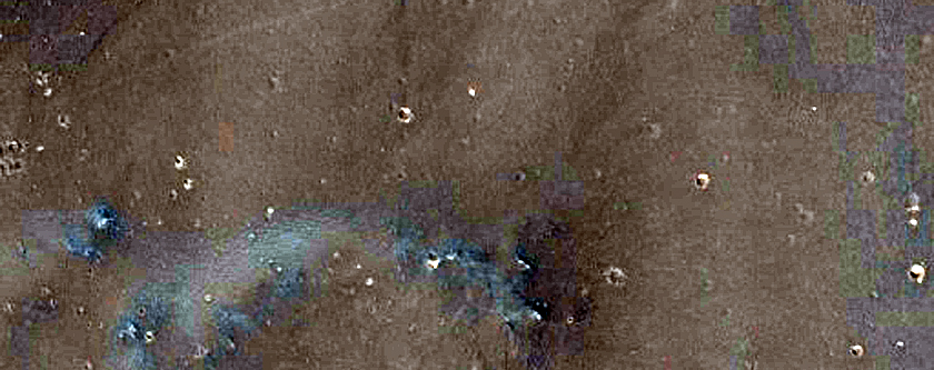 Crater Ejecta with Dust Deposits