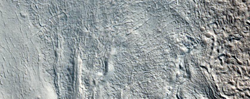 Sinuous Ridge in Tempe Terra