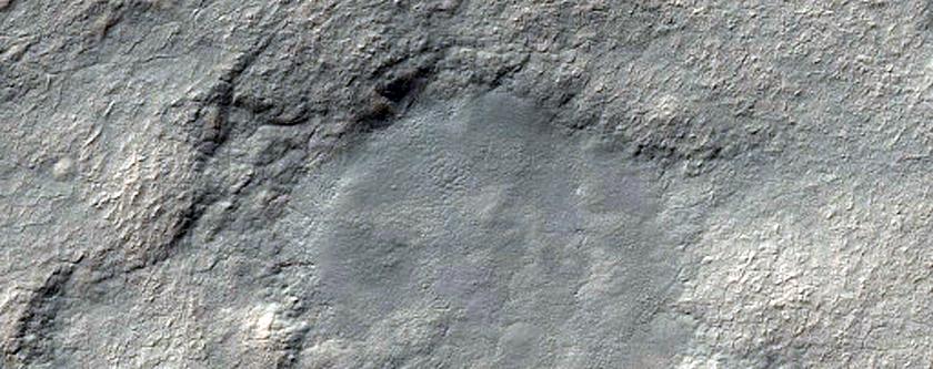 673-Meter Diameter South Polar Layered Deposits Crater