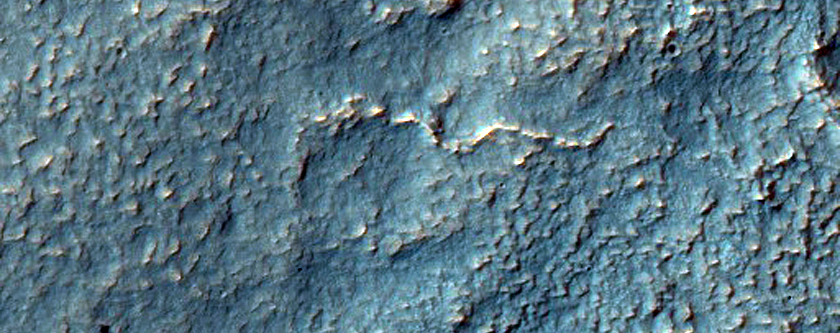 Fan-Shaped Group of Ridges Northwest of Hellas Planitia