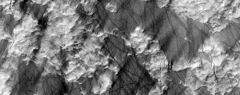Sample of Surface of Interior Mound in Hale Crater