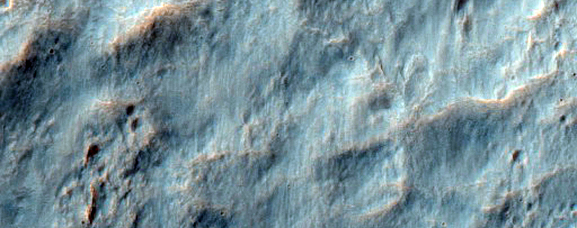 Southern Continuous Ejecta Boundary of Resen Crater in Hesperia Planum