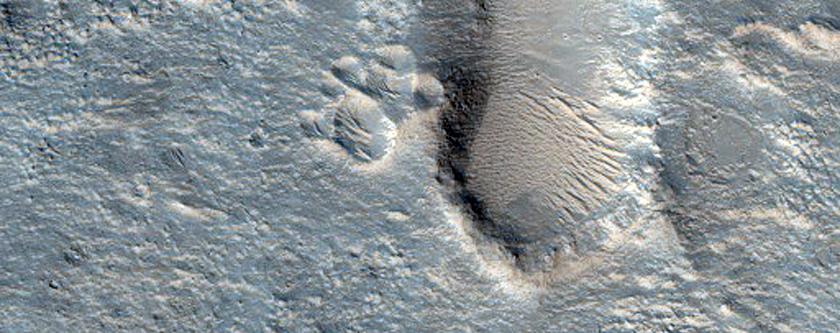 Floor of Ehden Crater