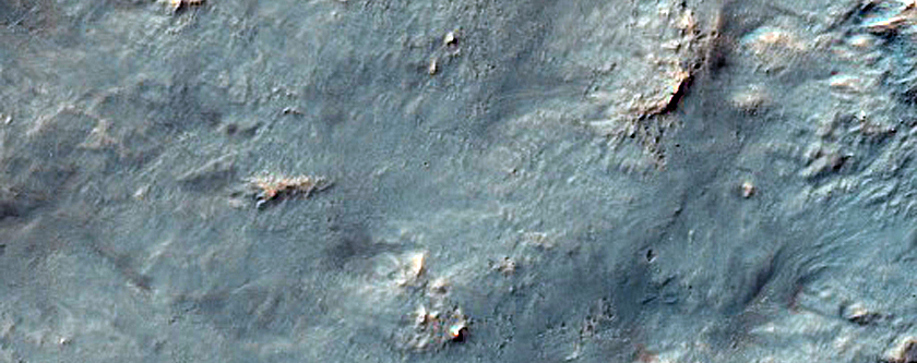 Western Continuous Ejecta of Istok Crater in Thaumasia Fossae
