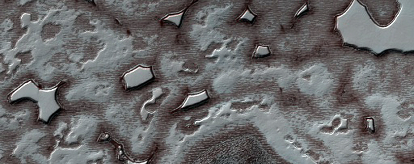 Possible Craters on South Polar Layered Deposits