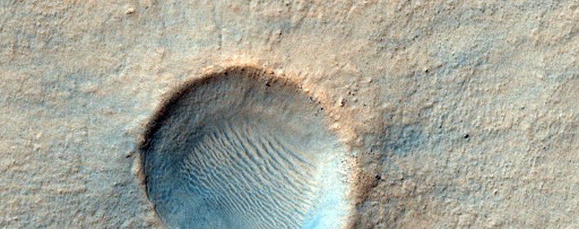Well-Preserved Small Impact Crater in Hellas Planitia