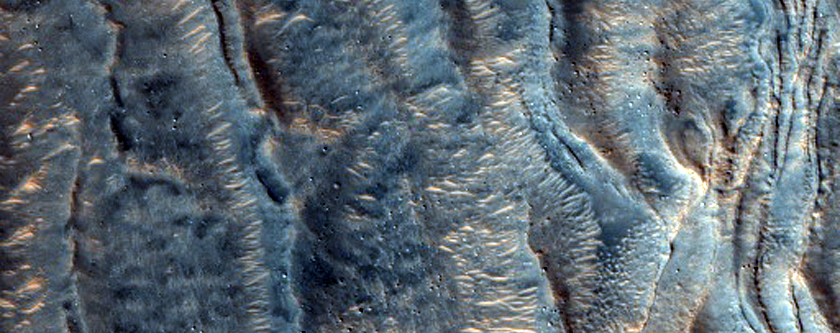 Bedforms in Moreux Crater