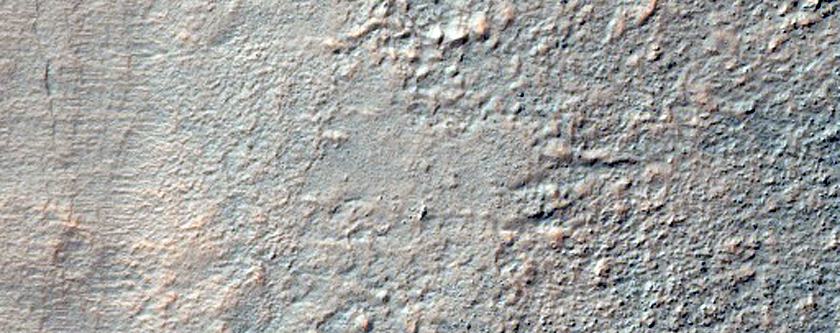 Crater Wall in Aonia Terra