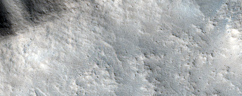Gullied Crater Wall