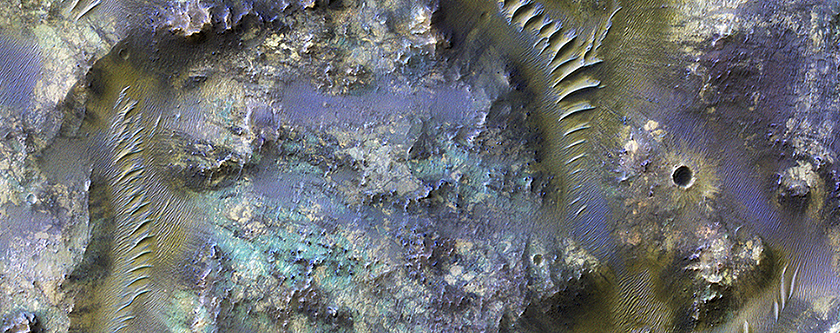 Mars and the Amazing Technicolor Ejecta Blanket