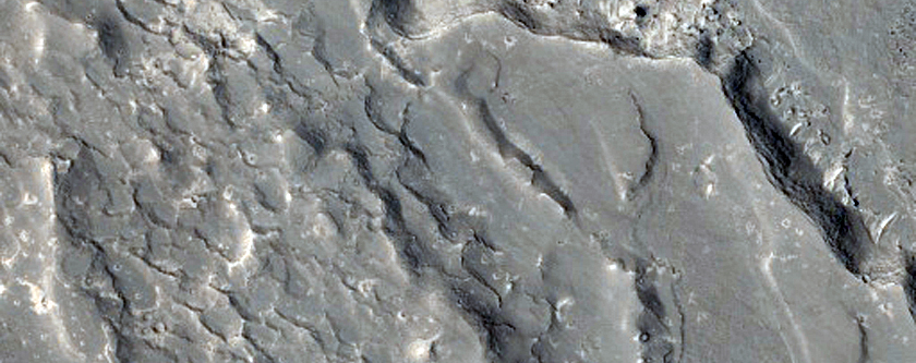 Lava and Channel in Southern Elysium Planitia