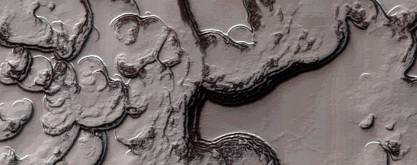 Fingerprint Terrain with Sawtooth Pattern