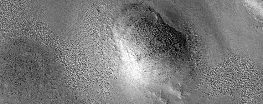 Холмы и куполы равнины Arcadia Planitia