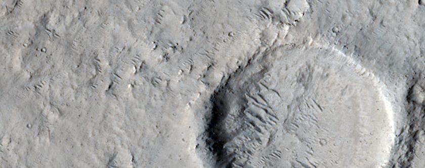 Ridge in Orcus Patera