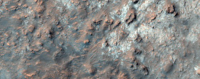 Intracrater Mesas and Lobate Feature