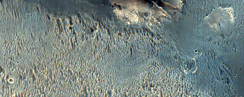 Degraded Crater Rim Morphology