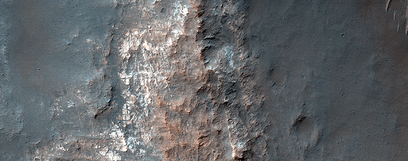 Light-toned Mounds in Gorgonum Basin