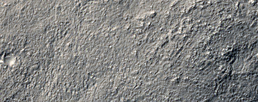 Small Curved Channel Near Reull Vallis