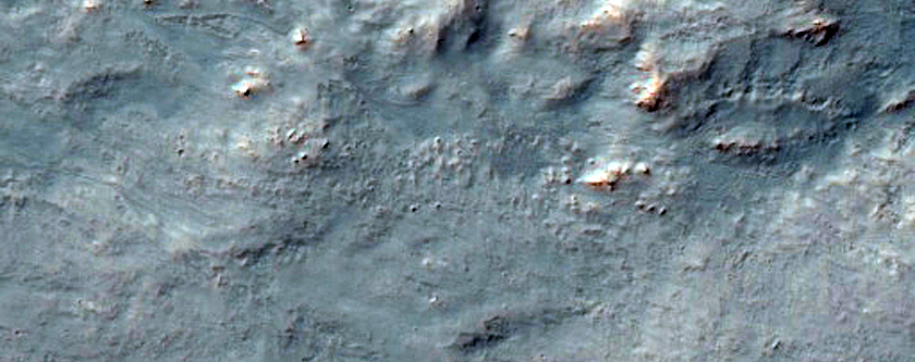 Western Continuous Ejecta of Resen Crater in Hesperia Planum
