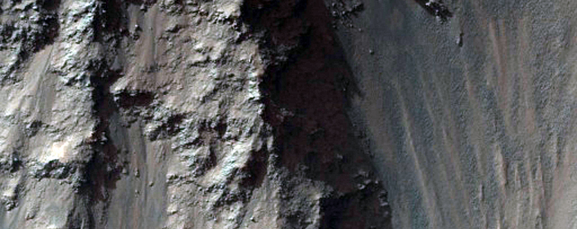 Mass Wasting in Coprates Chasma