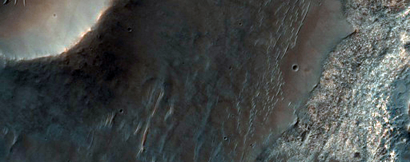 Light-Toned Material Exposed in Bakhuysen Crater