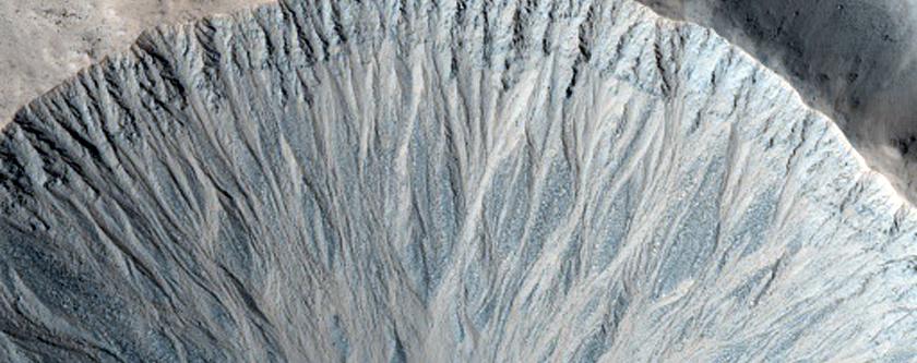 Obserwacje koryta rzeky w kraterze uderzeniowym