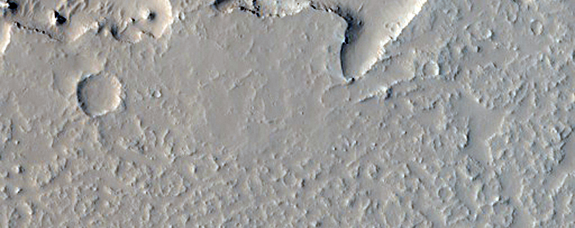 Crater-Cored Island in Lava Flow Field