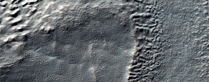 Well-Preserved Crater with Layered Ejecta