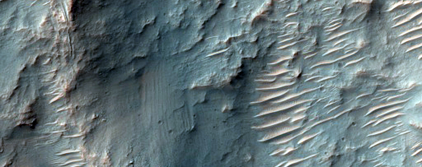 Well-Exposed Stratigraphy in Crater Wall