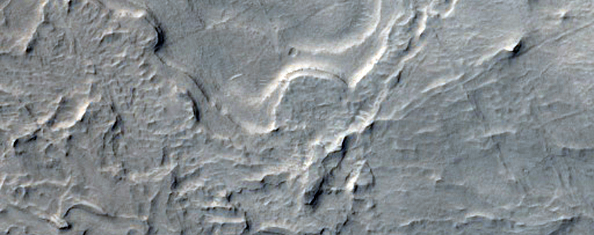 Sedimentary Layers in Crater in Arabia Terra