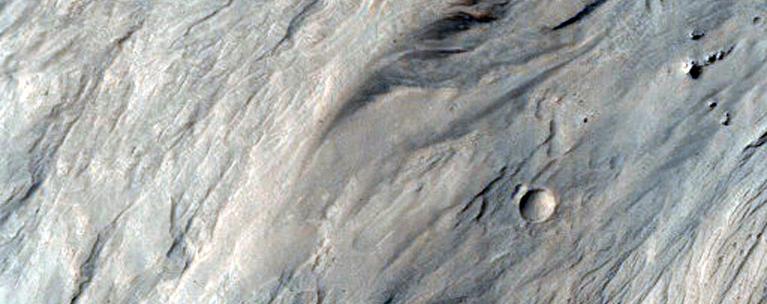 Alluvial Fans in Southwestern Mojave Crater