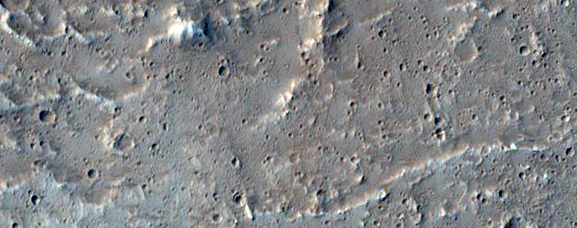 Knobs Embayed by Lava Near Olympus Mons