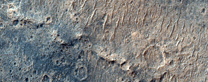 Mounds West of Schiaparelli Crater