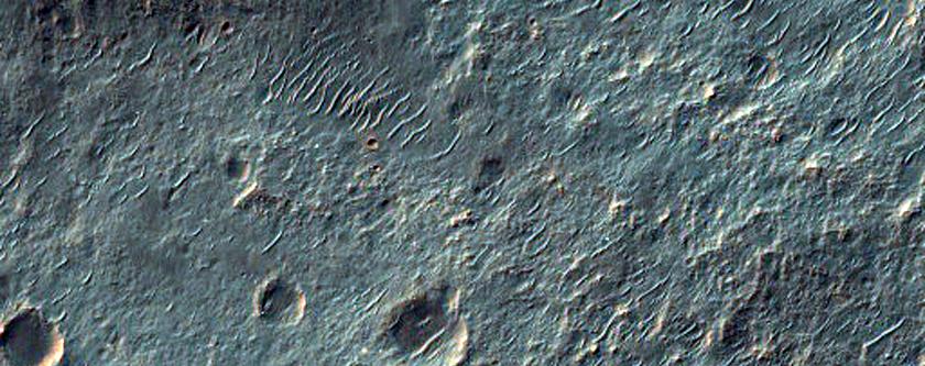 Ejecta in Roddy Crater