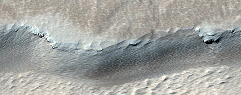 Chain of Pits Southeast of Pavonis Mons