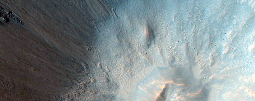 Very Fresh Crater with Steep Slopes