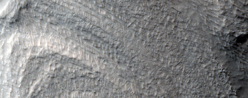 Banded or Terraced Hillslopes in East Hellas Planitia