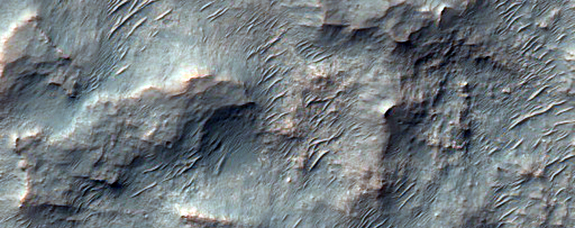 Inverted Channel and Potential Sedimentary Deposit in Hellas Region