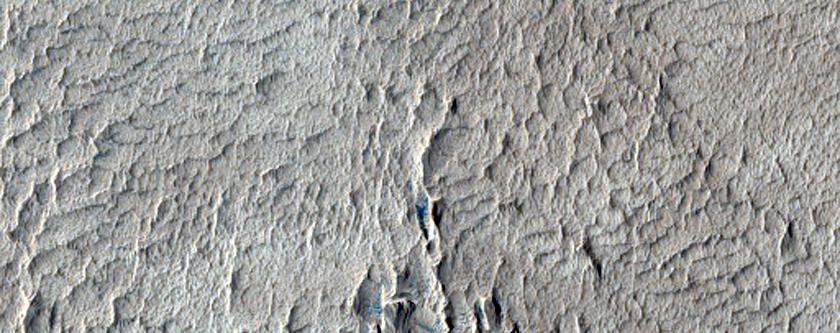Terrain on Olympus Mons Aureole