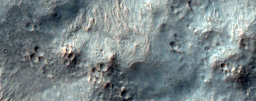 Southeastern Continuous Ejecta of Resen Crater in Hesperia Planum