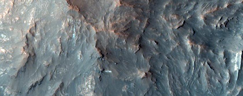 Central Peak Dunes in Crater Near Bonestell Crater