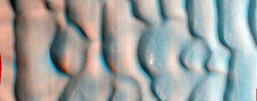 Lomonosov Crater Dune Monitoring