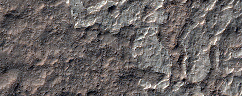 Light-Toned Deposits with Possible Inverted Channels in Eridani Region
