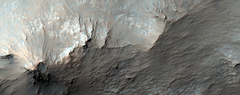 Central Peak and Pit of Large Impact Crater