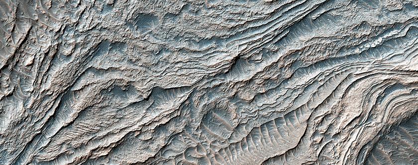 Clinoforms in Melas Chasma
